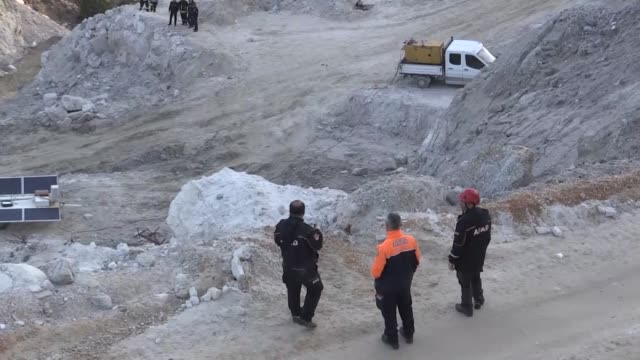the bodies of two more miners were recovered tuesday bringing the death toll to three from a landslide at an openpit mining site in aegean turkey... - mugla province stock videos and b-roll footage