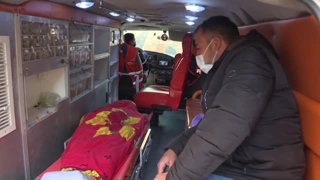 the body of 42-year-old palestinian osama sidqi mansur is taken to the morgue, after he was killed by israeli fire in bir nabala, in what the israeli... - dead stock videos & royalty-free footage