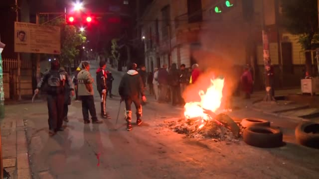 the bolivian armed forces and police patrol in la paz in an effort to curb violence that has erupted in the south american country following... - bolivia stock videos & royalty-free footage