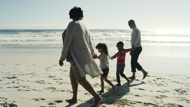 the bond between grandchild and grandparent is immeasurable - strand south africa stock videos & royalty-free footage