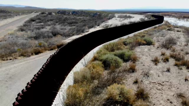 the border wall is seen on january 15, 2019 in esperanza, texas. the u.s. government is partially shut down as president donald trump is asking for... - government shutdown stock videos & royalty-free footage