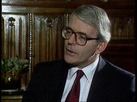The Boris Yeltsin collection CMS John Major intvw SOT NATO decision was taken within ambit of previous security council resolutions/ go ahead will be...
