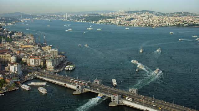 the bosphorus in istanbul turkey - bosphorus stock videos & royalty-free footage