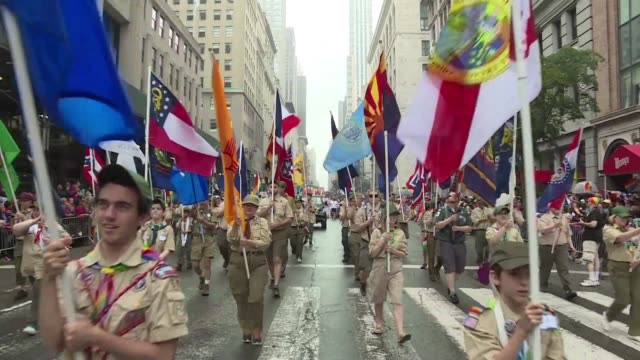 the boy scouts of america was poised monday to officially end its ban on gay scout leaders a historic but controversial shift after years of legal... - scout association stock videos and b-roll footage