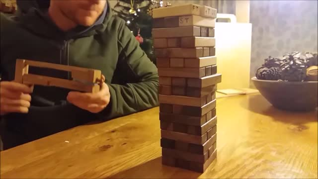 the boyfriend of guardian journalist heidi stephens has turned the game of jenga upside down by adding his own creative device. jenga usually... - boyfriend stock videos & royalty-free footage