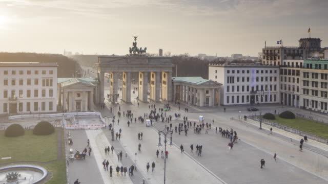 The Brandenburg Gate in central Berlin, Germany.
