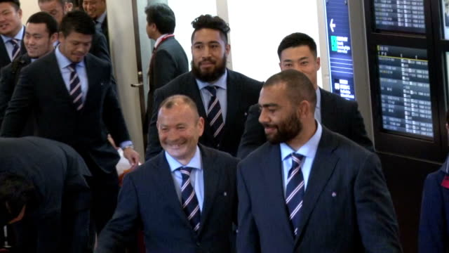 the brave blossoms returned home tuesday having changed history but outgoing coach eddie jones said difficult changes would need to be made for japan... - united states national team stock videos & royalty-free footage