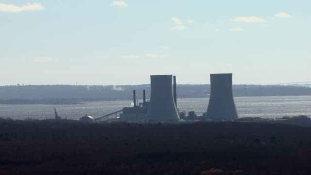 The Brayton Point Power Station in Somerset Massachusetts in March, 2011. One of the largest power plants in New England, the Brayton Point facility is scheduled to be closed in 2017.