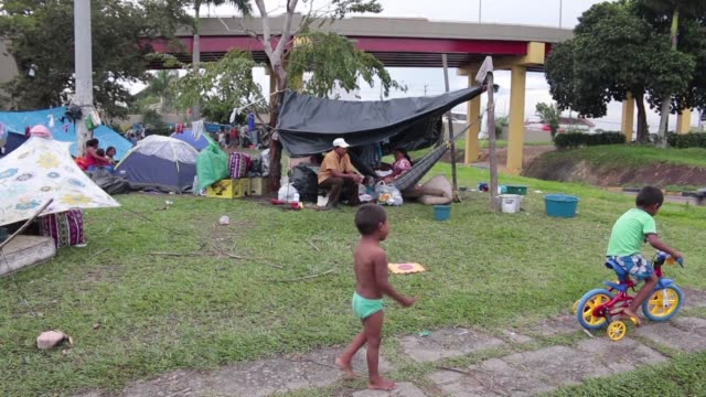 vídeos de stock, filmes e b-roll de the brazilian city of manaus in the heart of the amazon declared a state of social emergency on 4 may in response to the influx of migrants from... - amazonas state brazil