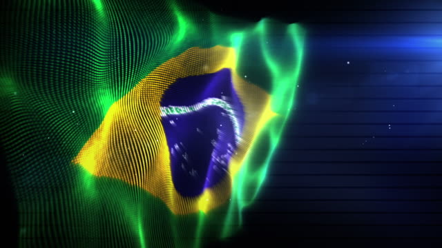 The Brazilian Flag - Background Loop (Full HD)