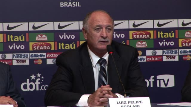 vídeos de stock, filmes e b-roll de the brazilian football federation on thursday named luiz felipe scolari the national teams new manager a safe bet who has already led the team to... - 2002