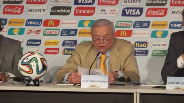 the brazilian football federations former head jose maria marin is among seven top fifa officials arrested in a corruption probe in zurich - fifa stock videos & royalty-free footage