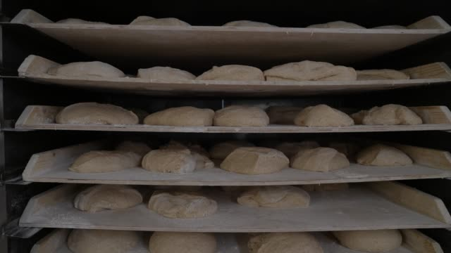 the bread factory on april 14, 2020 in london, england. during the covid-19 outbreak and lockdown, the bakery-and-cafe chain says it is providing... - bread stock videos & royalty-free footage