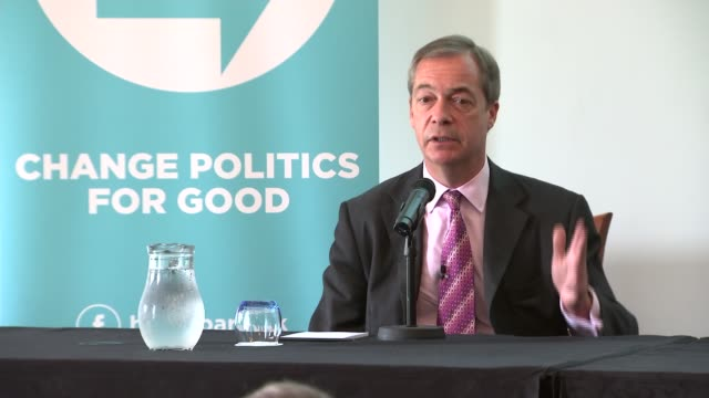the brexit party press conference - nigel farage and richard tice; england: london: westminster: int **beware flash photography** richard tice and... - mep stock videos & royalty-free footage