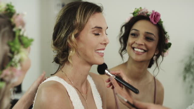 the bride's beauty is a done deal - preparation stock videos & royalty-free footage