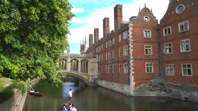 the bridge of sigh at saint john's college in cambridge, uk - editorial stock videos & royalty-free footage