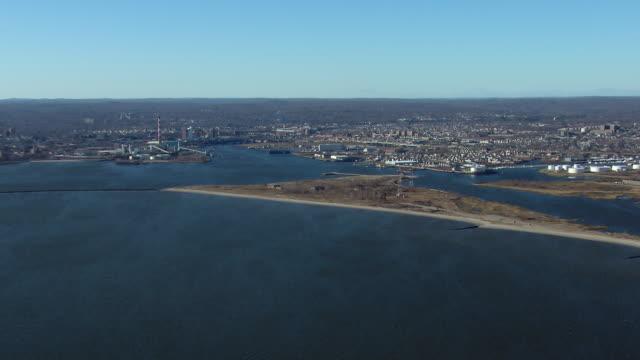 The Bridgeport Harbor at Bridgeport, Connecticut.