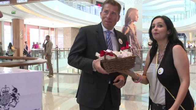 the british embassy in lebanon celebrated the birth of britains future king by distributing traditional lebanese sweets and drawing attention to the... - 0 11 mesi video stock e b–roll