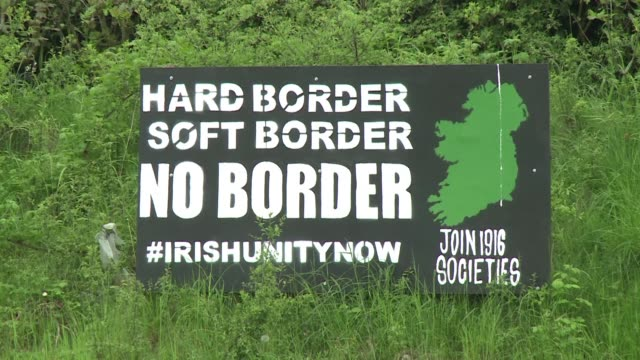 the british government is struggling over how to deal with a key sticking point of brexit the border between northern ireland and the irish republic - ulster province stock videos & royalty-free footage