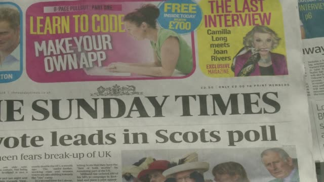 vídeos de stock e filmes b-roll de the british government scrambled sunday to pledge greater autonomy for scotland after a poll put the pro independence camp ahead just 11 days before... - escócia
