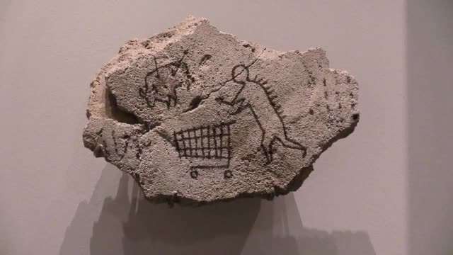 stockvideo's en b-roll-footage met the british museum have hailed the return of a banksy artwork entitled peckham rock which the street artist hid at the museum in 2005 when it went... - human interest