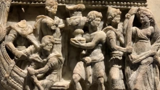 the british museum is getting ready to open its doors for a special exhibition of antique findings from the ancient city of troy 'troy myth and... - ancient stock videos & royalty-free footage