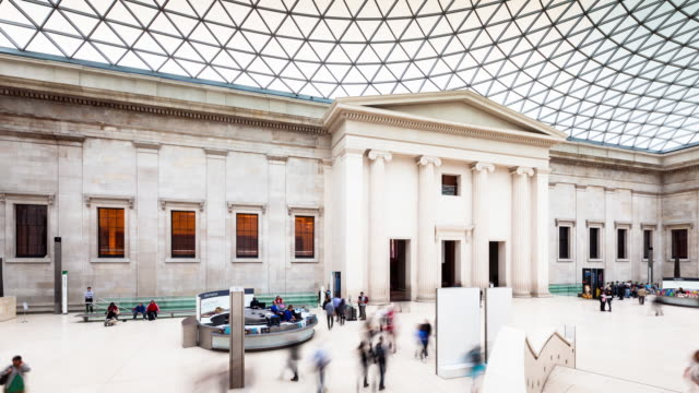 t/l of the british museum, london - british museum stock videos & royalty-free footage