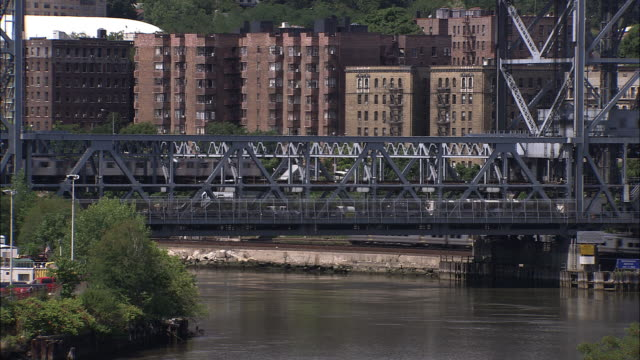 The Broadway Bridge and the Harlem River.