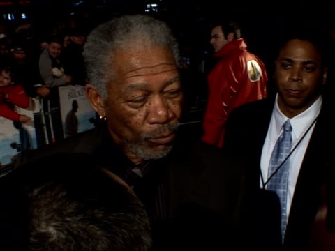 'the bucket list' premiere arrivals and interviews more of morgan freeman chatting with journalists / freeman interviewed by other reporters sot - morgan freeman stock videos & royalty-free footage