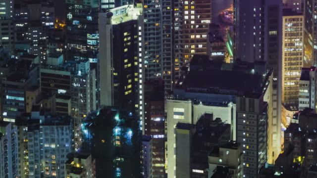 4K TIME LAPSE  : The building office and cityscape in Hong Kong.panning styles.