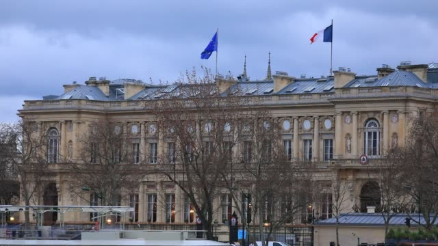 the building of french ministry of europe and foreign affairs on march 10 2020 in paris france - minister stock-videos und b-roll-filmmaterial