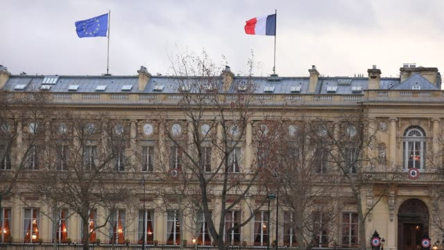 the building of french ministry of europe and foreign affairs on march 10, 2020 in paris, france. - french culture stock videos & royalty-free footage