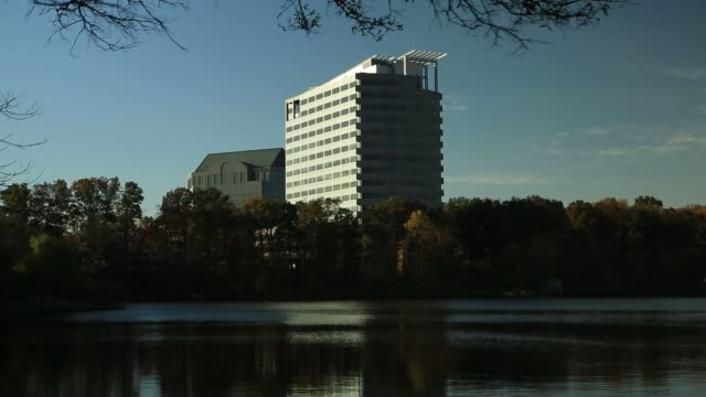 the building that houses the general dynamics corp headquarters stands in falls church virginia us shots of the building that houses general dynamics... - falls church stock-videos und b-roll-filmmaterial