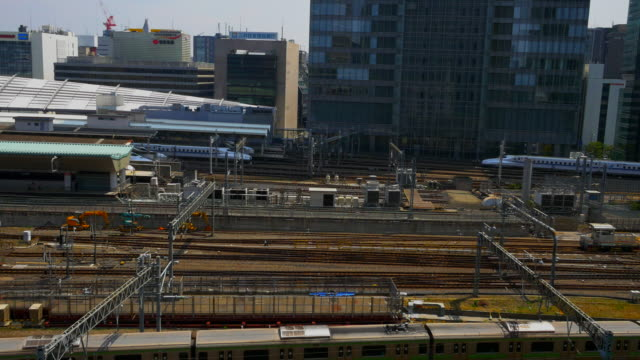 The bullet train pulled into the Tokyo Station
