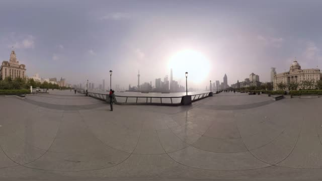 360 VR, The Bund and Pudong skyline at sunrise