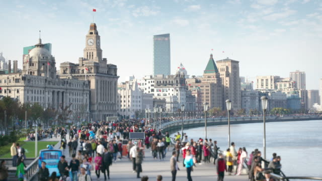 the bund in shanghai - shanghai stock videos & royalty-free footage