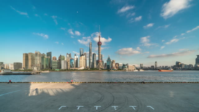 the bund - shanghai skyline - time lapse - the bund stock videos & royalty-free footage