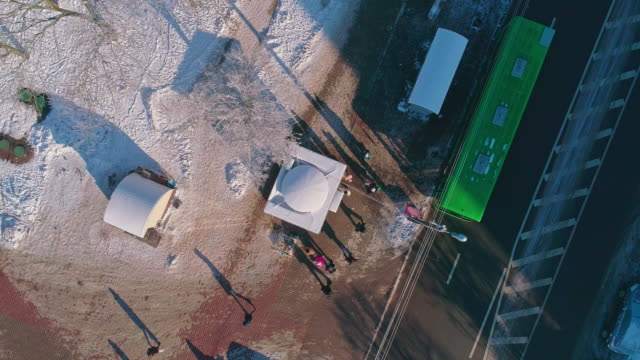 the bus stop from above - bus stop stock videos & royalty-free footage