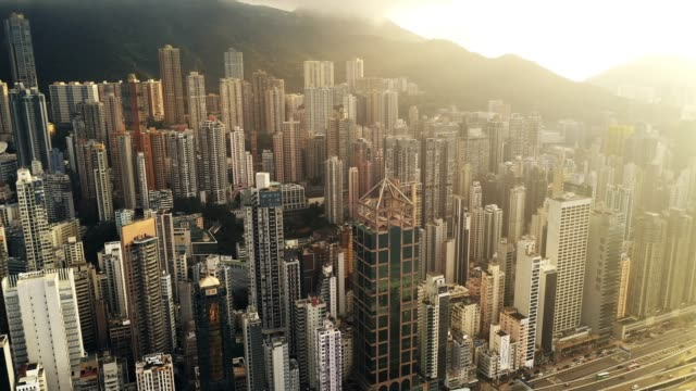 the bustling city of hong kong - famous place stock videos & royalty-free footage