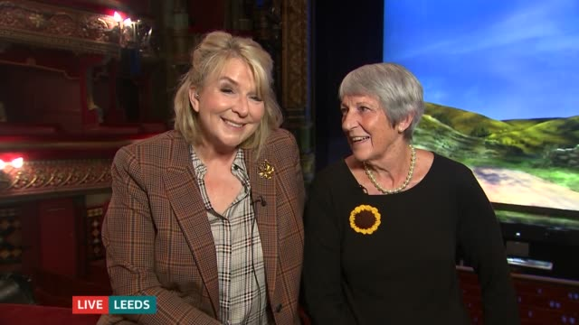 stockvideo's en b-roll-footage met 'the calendar girls' returns to yorkshire roots england london gir int angela baker live 2way interview from leeds sot fern britton live 2way... - fern britton