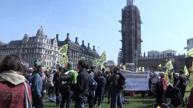 The campaign group Extinction Rebellion protest in Parliament Square The square is one of five central London locations being targeted by...