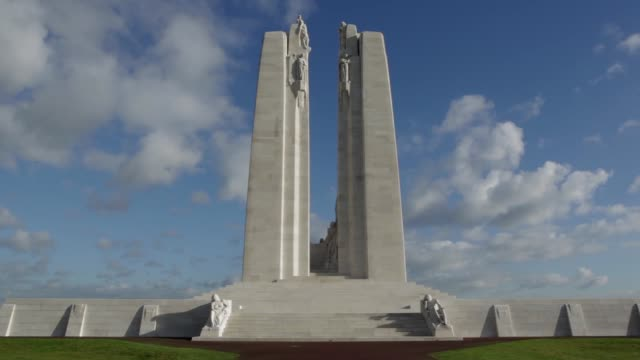 ws the canadian national vimy memorial is canada's largest and principal overseas war memorial located on the highest point of the vimy ridge the... - ridge stock videos & royalty-free footage
