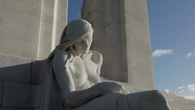 the canadian national vimy memorial is canada's largest and principal overseas war memorial. located on the highest point of the vimy ridge, the... - ww1 battle stock videos & royalty-free footage