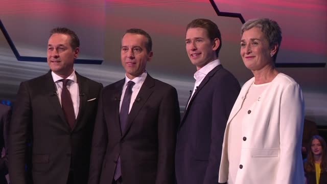 the candidates in the austrian legislative elections are debating one last time on television before sunday's vote - traditionally austrian stock videos & royalty-free footage