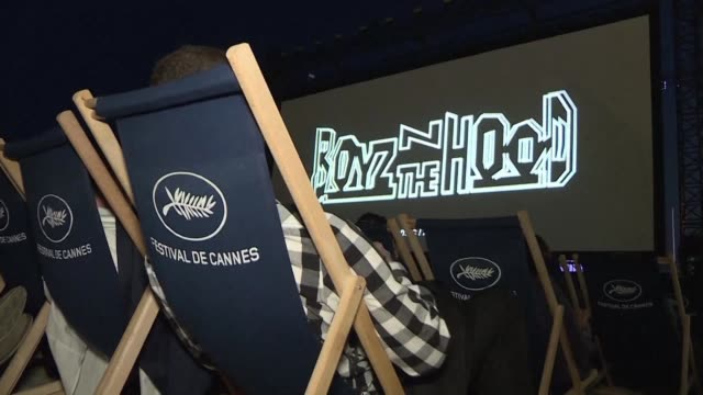 FRA: John Singleton's Boyz N the Hood screened on Cannes beach