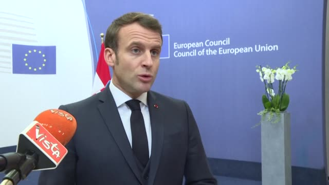 the cap cannot pay for brexit french president emmanuel macron says at the end of an eu budget summit which ended in an impasse after leaders could... - end cap stock videos & royalty-free footage