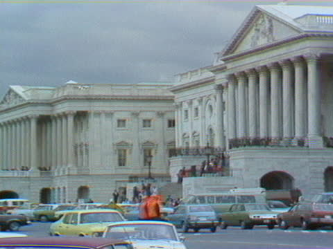 the capitol building and supreme court of the united states in the 1980s. - us supreme court building stock videos & royalty-free footage