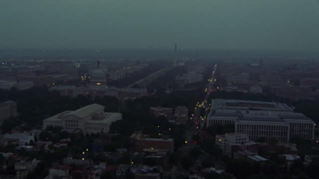 The Capitol building dominates the cityscape of Washington.