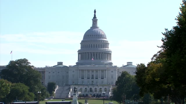 the capitol building is seen during the 2013 government shutdown. - united states and (politics or government) stock videos & royalty-free footage