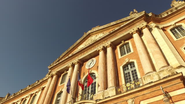 the capitol building, toulouse - town hall stock videos & royalty-free footage